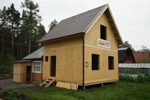 каркасно-панельный дом для сада