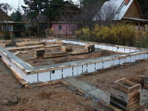 железобетонный фундамент под каркасно-панельный дом