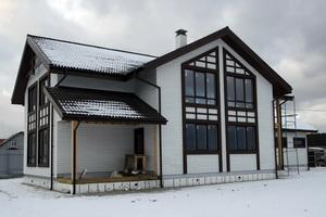Каркасно-панельнй дом с мансардным этажом