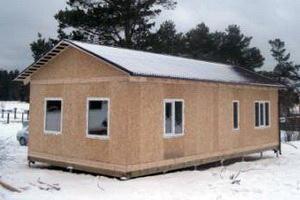каркасно-панельный дом