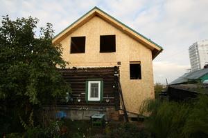 надстройка на дом из бревна