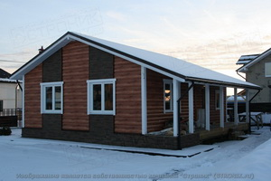 Каркасно-панельный дом по каркасно-панельной технологии.
