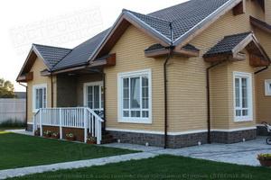 Каркасно-панельный дом с отделкой Front'On и FLEX-бетон
