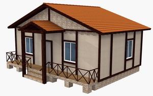 Типовой проект дома выполненного в панелях Экопан