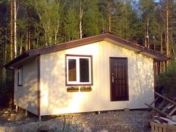 Садовый каркасно-панельный домик
