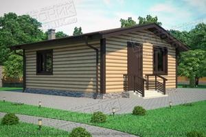 проект дачного дома из SIP панелей Экопан